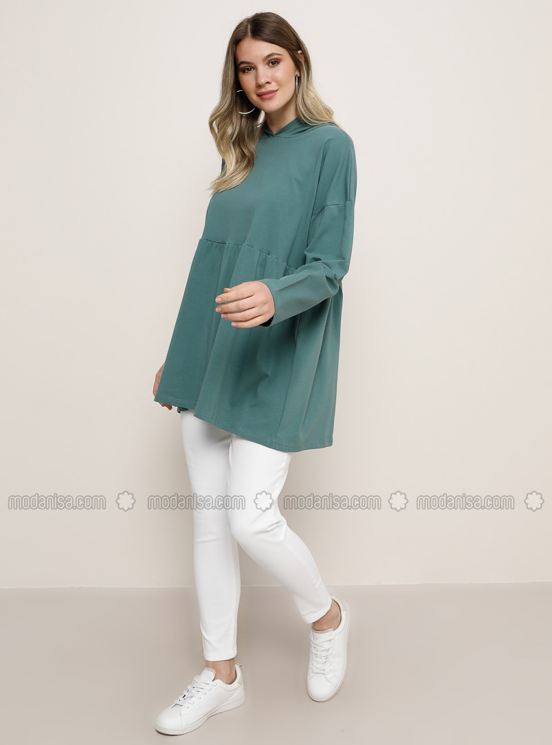 Green -  - Plus Size Tunic