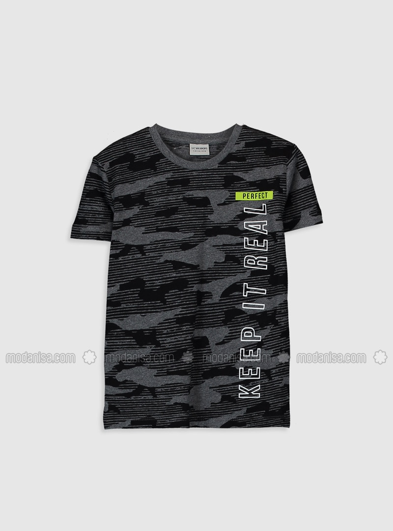 Anthracite - Boys` T-Shirt