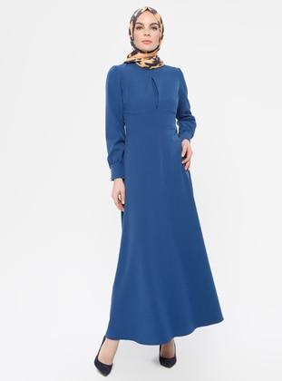 Indigo - Polo neck - Unlined - - Dress