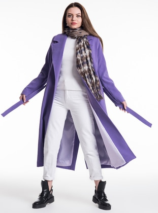 Lilac - Fully Lined - Shawl Collar - Coat