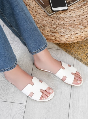 White - Sandal - Slippers - Snox