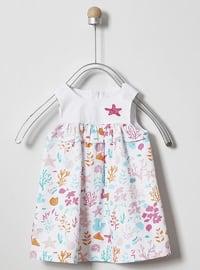 Multi - Crew neck - - Multi - Mint - Baby Dress