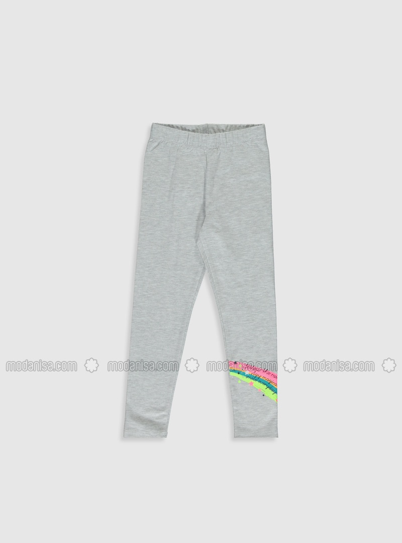 Gray - Girls` Leggings