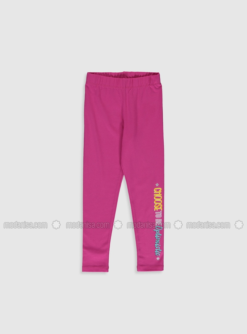 Fuchsia - Girls` Leggings