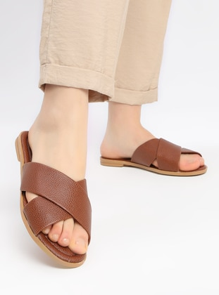Tan - Sandal - Slippers