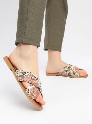 Brown - Tan - Sandal - Slippers