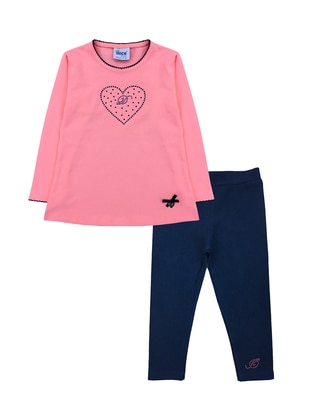 Crew neck -  - Pink - Girls` Suit