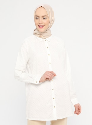Gold - Point Collar -  - Blouses
