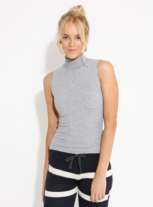 Gray - Polo neck -  - Tank - Herita