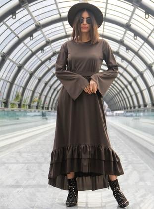 Khaki - Fully Lined - Dress