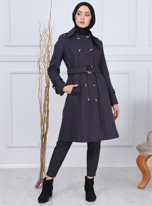Anthracite - Point Collar -  - Trench Coat