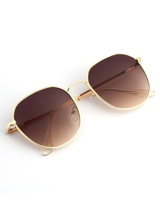 Gold - Brown - Sunglasses