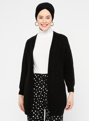 Black - Acrylic -  -  - Cardigan