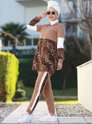 Mink - Leopard - Unlined - Acrylic -  - Suit