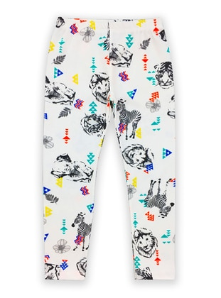 Multi -  - White - Multi - Girls` Leggings