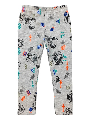Multi -  - Gray - Girls` Leggings