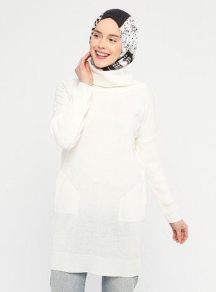 Ecru - Polo neck - Acrylic -  -  - Tunic