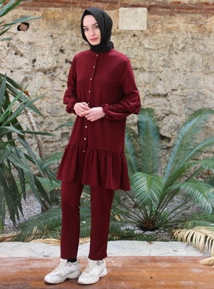 Maroon - Unlined - Suit