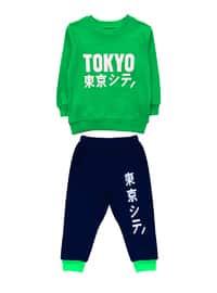 Crew neck -  - Multi - Green - Baby Suit