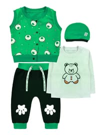 Crew neck -  - Green - Baby Suit