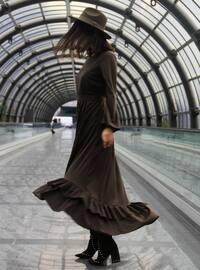 Haki - Astarlı kumaş - Elbise