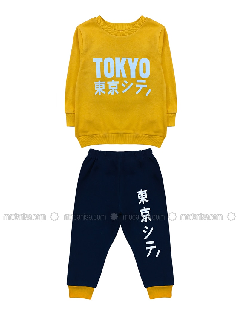 Crew neck -  - Multi - Yellow - Baby Suit