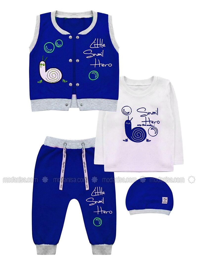 Crew neck -  - Blue - Baby Suit