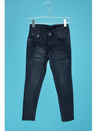 Black - Boys` Pants - Fulla Moda