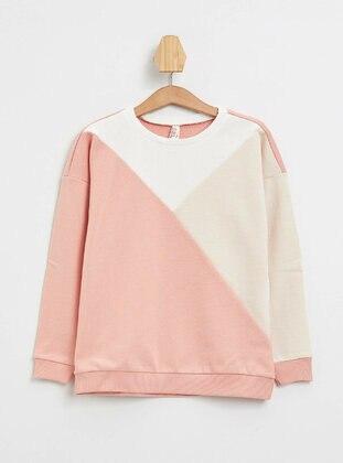 Orange - Girls` Sweatshirt