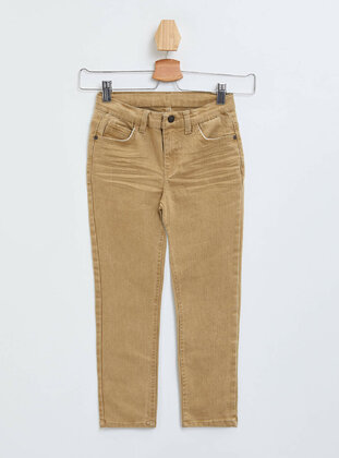 Brown - Boys` Pants - DeFacto