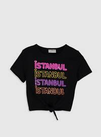 Black - Girls` T-Shirt