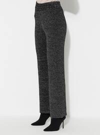Black - Acrylic -  - Knit Pants