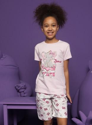 Crew neck -  - Pink - Girls` Pyjamas