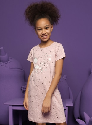 Crew neck -  - Pink - Girls` Pyjamas