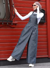 Gray - Denim - - Pants