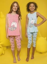 Crew neck - - Blue - Girls` Pyjamas