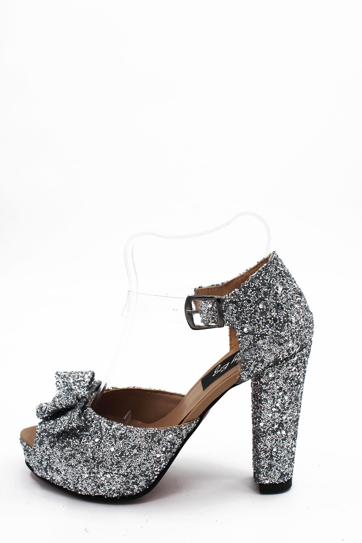 Tesettür Abiye Ayakkabı BY ERZ Gümüş Kadın 40