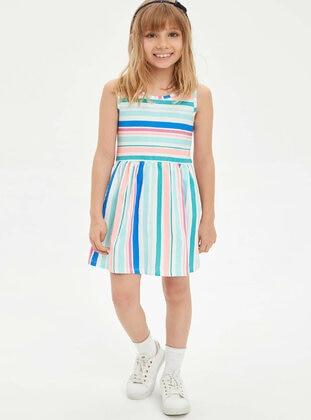 Turquoise - Girls` Dress