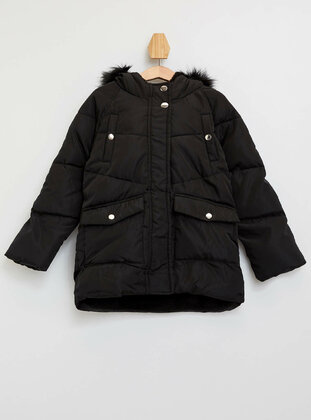 Black - Girls` Jacket - DeFacto