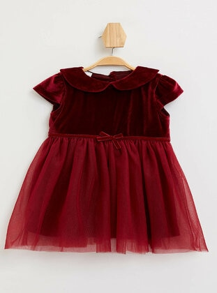 Maroon - Baby Dress
