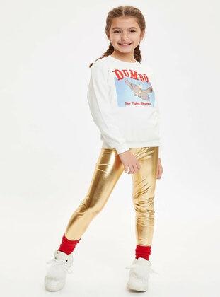 Gold - Girls` Leggings