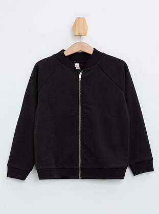 Black - Girls` Cardigan
