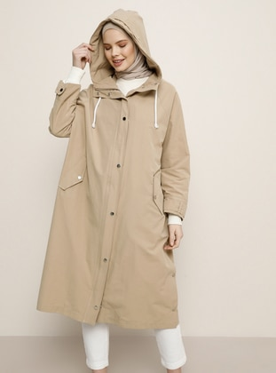Camel - Unlined - Viscose - Trench Coat