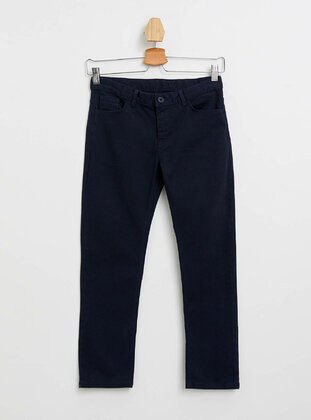 Navy Blue - Boys` Pants - DeFacto