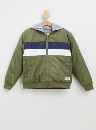 Khaki - Boys` Jacket - DeFacto