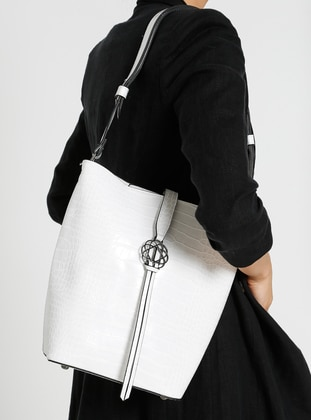 White - Satchel - Shoulder Bags - İcone