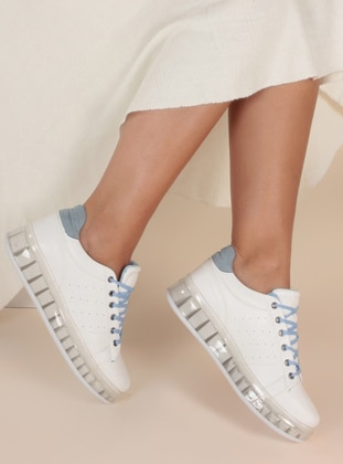 Baby Blue - White - Sport - Sports Shoes