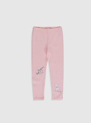 Pink - Girls` Leggings - LC WAIKIKI