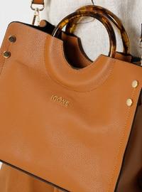 Tan - Satchel - Shoulder Bags - İcone