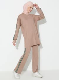 Mink - Viscose - Crew neck - Tracksuit Set